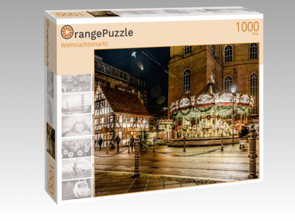 """Puzzle Motiv """"Weihnachtsmarkt"""" - Puzzle-Schachtel zu 1000 Teile Puzzle"""