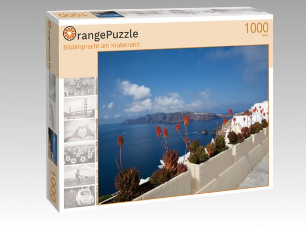 """Puzzle Motiv """"Blütenpracht am Kraterrand"""" - Puzzle-Schachtel zu 1000 Teile Puzzle"""