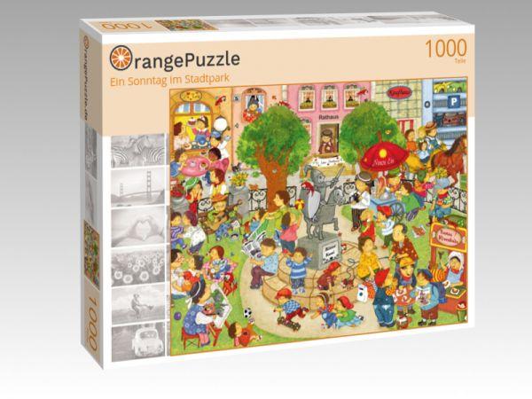 """Puzzle Motiv """"Ein Sonntag im Stadtpark"""" - Puzzle-Schachtel zu 1000 Teile Puzzle"""