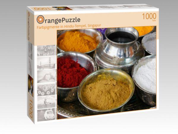 "Puzzle Motiv ""Farbpigmente in Hindu-Tempel, Singapur"" - Puzzle-Schachtel zu 1000 Teile Puzzle"