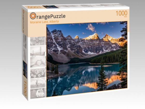 """Puzzle Motiv """"Moraine Lake, Alberta"""" - Puzzle-Schachtel zu 1000 Teile Puzzle"""