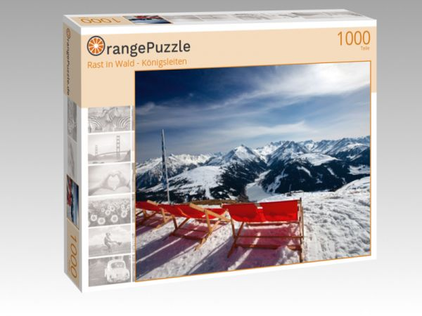 """Puzzle Motiv """"Rast in Wald - Königsleiten"""" - Puzzle-Schachtel zu 1000 Teile Puzzle"""