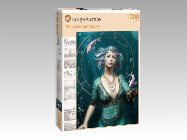 """Puzzle Motiv """"Sternzeichen Fische"""" - Puzzle-Schachtel zu 1000 Teile Puzzle"""