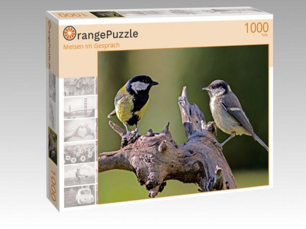 """Puzzle Motiv """"Meisen im Gespräch"""" - Puzzle-Schachtel zu 1000 Teile Puzzle"""