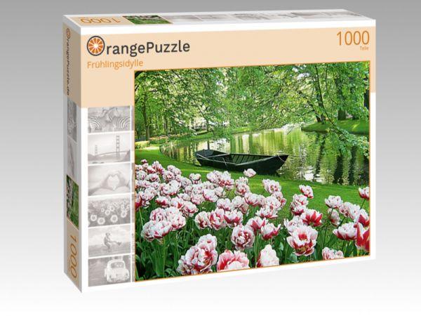"""Puzzle Motiv """"Frühlingsidylle"""" - Puzzle-Schachtel zu 1000 Teile Puzzle"""