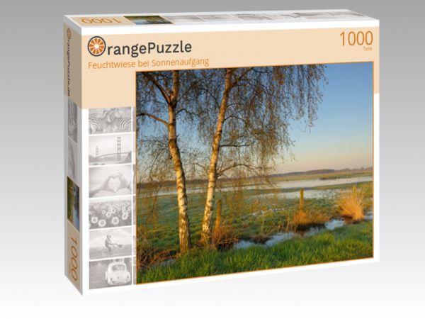 """Puzzle Motiv """"Feuchtwiese bei Sonnenaufgang"""" - Puzzle-Schachtel zu 1000 Teile Puzzle"""