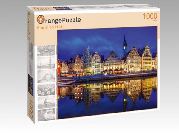 """Puzzle Motiv """"Graslei bei Nacht"""" - Puzzle-Schachtel zu 1000 Teile Puzzle"""