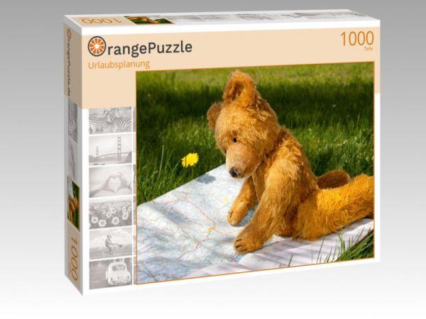 "Puzzle Motiv ""Urlaubsplanung"" - Puzzle-Schachtel zu 1000 Teile Puzzle"