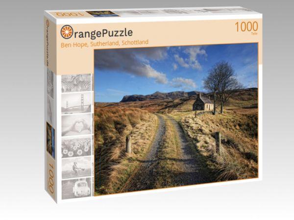 """Puzzle Motiv """"Ben Hope, Sutherland, Schottland"""" - Puzzle-Schachtel zu 1000 Teile Puzzle"""