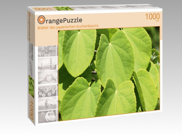 """Puzzle Motiv """"Blätter des Japanischen Kuchenbaums"""" - Puzzle-Schachtel zu 1000 Teile Puzzle"""