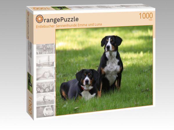 """Puzzle Motiv """"Entlebucher Sennenhunde Emma und Luna"""" - Puzzle-Schachtel zu 1000 Teile Puzzle"""