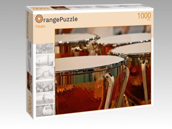 """Puzzle Motiv """"Pauke"""" - Puzzle-Schachtel zu 1000 Teile Puzzle"""