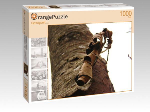 """Puzzle Motiv """"Gestöpselt ..."""" - Puzzle-Schachtel zu 1000 Teile Puzzle"""
