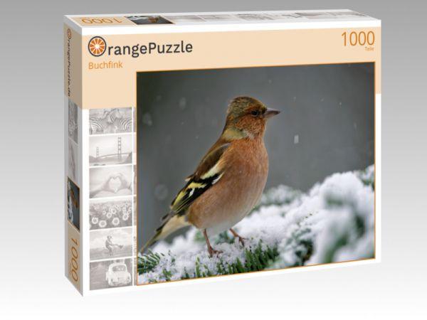 "Puzzle Motiv ""Buchfink"" - Puzzle-Schachtel zu 1000 Teile Puzzle"