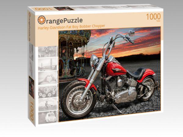 "Puzzle Motiv ""Harley-Davidson Fat Boy Bobber Chopper"" - Puzzle-Schachtel zu 1000 Teile Puzzle"