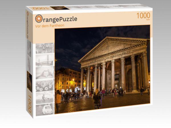 """Puzzle Motiv """"Vor dem Pantheon"""" - Puzzle-Schachtel zu 1000 Teile Puzzle"""