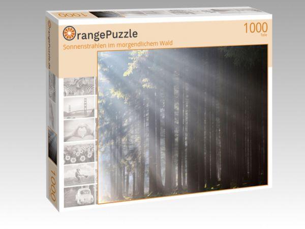"""Puzzle Motiv """"Sonnenstrahlen im morgendlichem Wald"""" - Puzzle-Schachtel zu 1000 Teile Puzzle"""