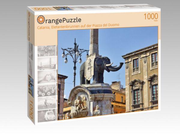 "Puzzle Motiv ""Catania, Elefantenbrunnen auf der Piazza del Duomo"" - Puzzle-Schachtel zu 1000 Teile Puzzle"