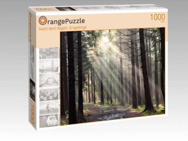 """Puzzle Motiv """"Nach dem Regen, Erzgebirge"""" - Puzzle-Schachtel zu 1000 Teile Puzzle"""