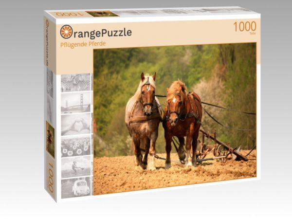 """Puzzle Motiv """"Pflügende Pferde"""" - Puzzle-Schachtel zu 1000 Teile Puzzle"""