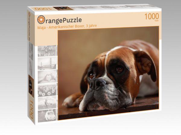 "Puzzle Motiv ""Maja - Amerikanischer Boxer, 3 Jahre"" - Puzzle-Schachtel zu 1000 Teile Puzzle"
