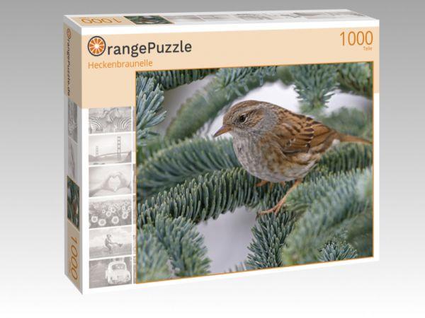 "Puzzle Motiv ""Heckenbraunelle"" - Puzzle-Schachtel zu 1000 Teile Puzzle"
