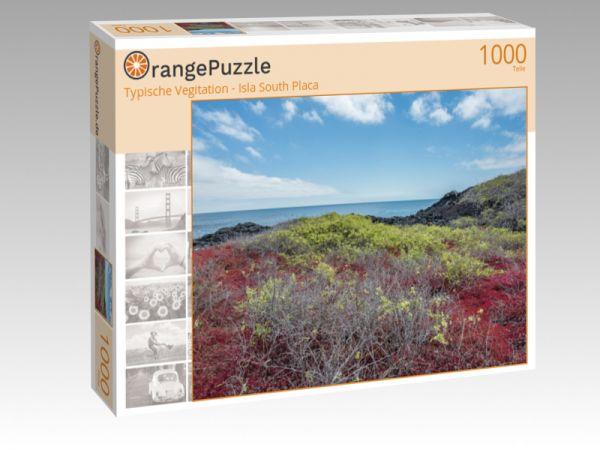 """Puzzle Motiv """"Typische Vegitation - Isla South Placa"""" - Puzzle-Schachtel zu 1000 Teile Puzzle"""