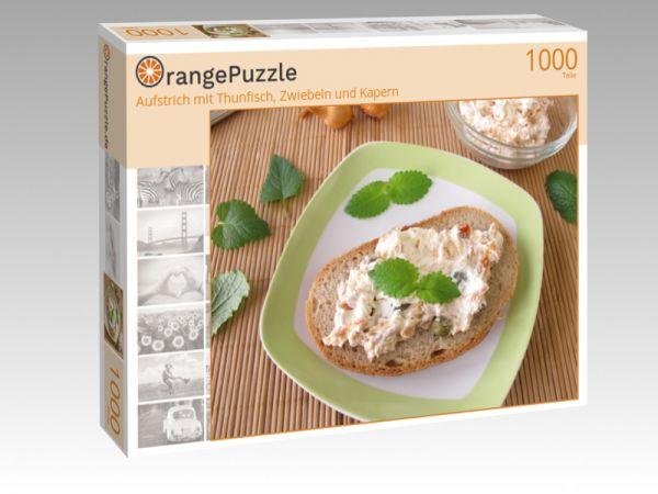 """Puzzle Motiv """"Aufstrich mit Thunfisch, Zwiebeln und Kapern"""" - Puzzle-Schachtel zu 1000 Teile Puzzle"""