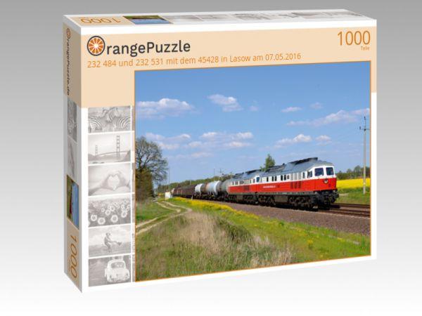 """Puzzle Motiv """"232 484 und 232 531 mit dem 45428 in Lasow am 07.05.2016"""" - Puzzle-Schachtel zu 1000 Teile Puzzle"""
