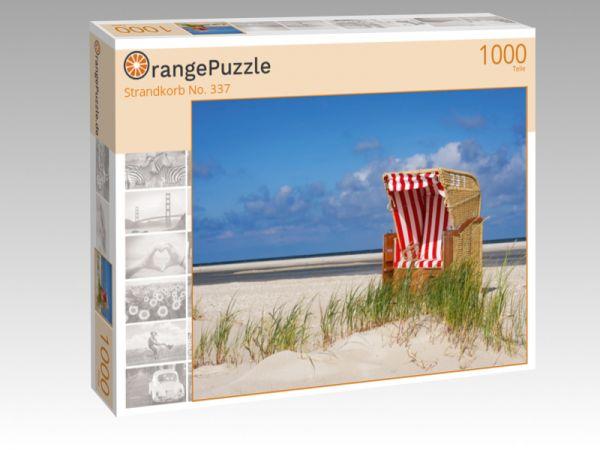 """Puzzle Motiv """"Strandkorb No. 337"""" - Puzzle-Schachtel zu 1000 Teile Puzzle"""