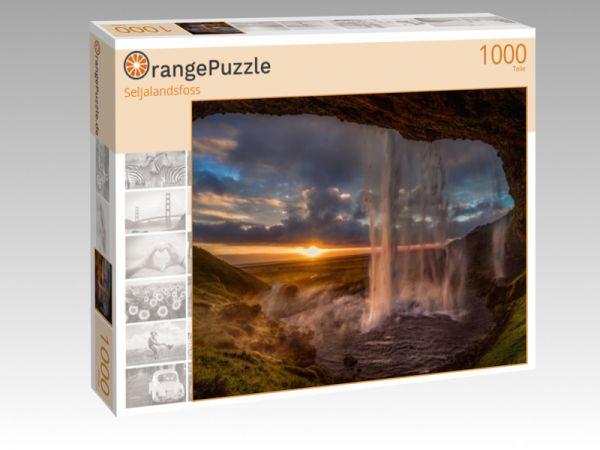 """Puzzle Motiv """"Seljalandsfoss"""" - Puzzle-Schachtel zu 1000 Teile Puzzle"""