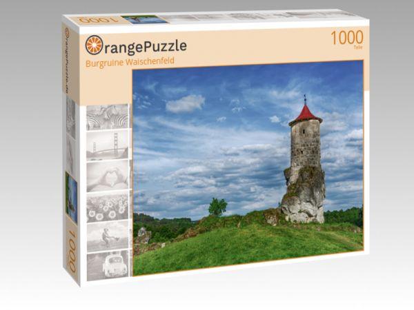 """Puzzle Motiv """"Burgruine Waischenfeld"""" - Puzzle-Schachtel zu 1000 Teile Puzzle"""