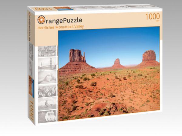"""Puzzle Motiv """"Herrliches Monument Valley"""" - Puzzle-Schachtel zu 1000 Teile Puzzle"""