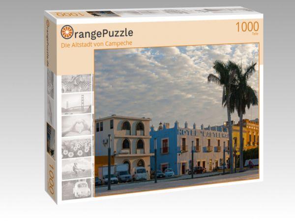 """Puzzle Motiv """"Die Altstadt von Campeche"""" - Puzzle-Schachtel zu 1000 Teile Puzzle"""