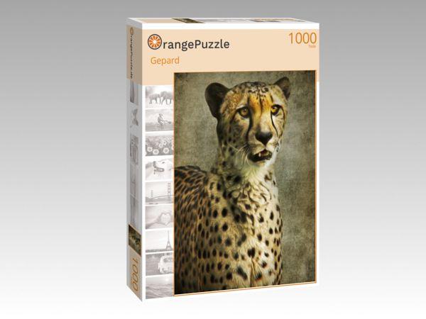 """Puzzle Motiv """"Gepard"""" - Puzzle-Schachtel zu 1000 Teile Puzzle"""