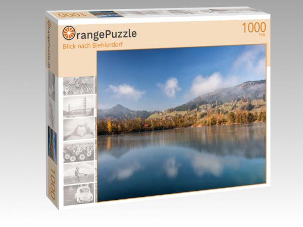 """Puzzle Motiv """"Blick nach Biehlerdorf"""" - Puzzle-Schachtel zu 1000 Teile Puzzle"""