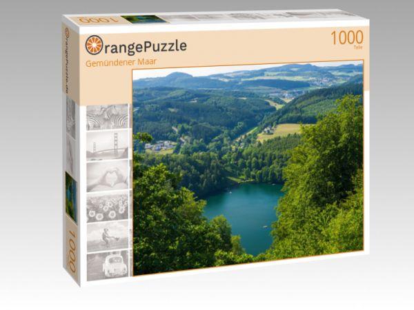 """Puzzle Motiv """"Gemündener Maar"""" - Puzzle-Schachtel zu 1000 Teile Puzzle"""