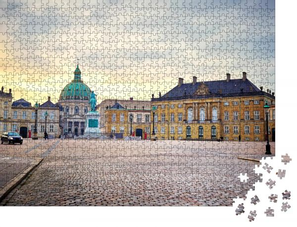 """Puzzle-Motiv """"Amalienborg"""" - Puzzle-Schachtel zu 1000 Teile Puzzle"""