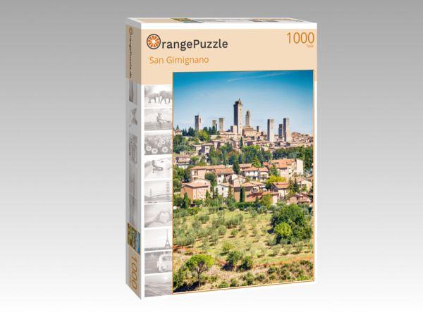 """Puzzle Motiv """"San Gimignano"""" - Puzzle-Schachtel zu 1000 Teile Puzzle"""