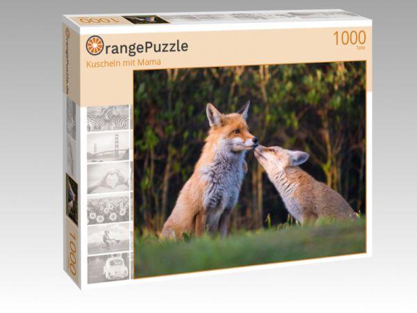 """Puzzle Motiv """"Kuscheln mit Mama"""" - Puzzle-Schachtel zu 1000 Teile Puzzle"""