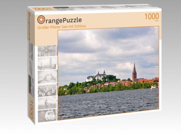 """Puzzle Motiv """"Großer Plöner See mit Schloss"""" - Puzzle-Schachtel zu 1000 Teile Puzzle"""