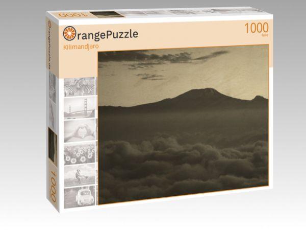 """Puzzle Motiv """"Kilimandjaro"""" - Puzzle-Schachtel zu 1000 Teile Puzzle"""