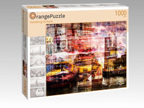 """Puzzle Motiv """"Hamburg ist bunt"""" - Puzzle-Schachtel zu 1000 Teile Puzzle"""