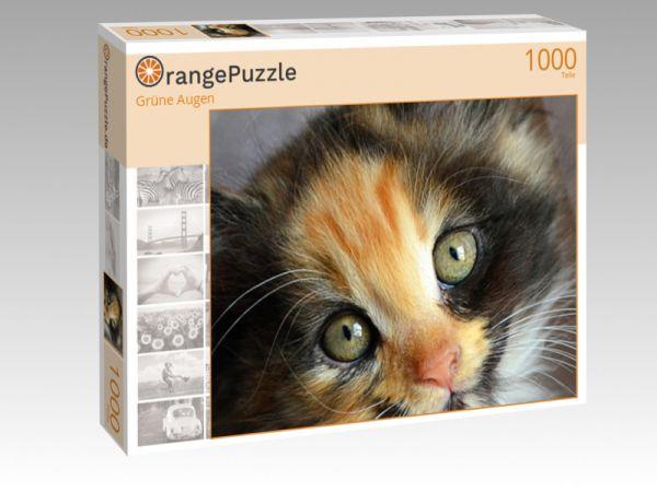 """Puzzle Motiv """"Grüne Augen"""" - Puzzle-Schachtel zu 1000 Teile Puzzle"""