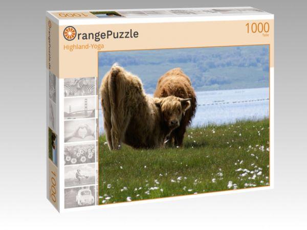"""Puzzle Motiv """"Highland-Yoga"""" - Puzzle-Schachtel zu 1000 Teile Puzzle"""