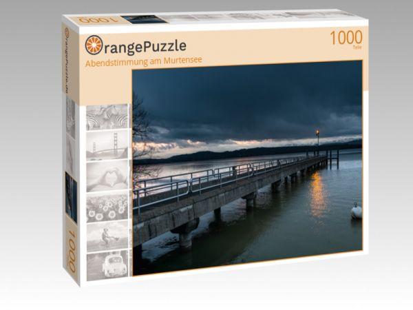 """Puzzle Motiv """"Abendstimmung am Murtensee"""" - Puzzle-Schachtel zu 1000 Teile Puzzle"""