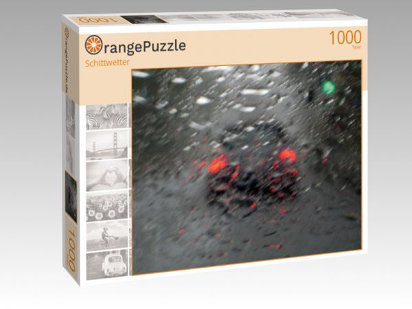 "Puzzle Motiv ""Schittwetter"" - Puzzle-Schachtel zu 1000 Teile Puzzle"