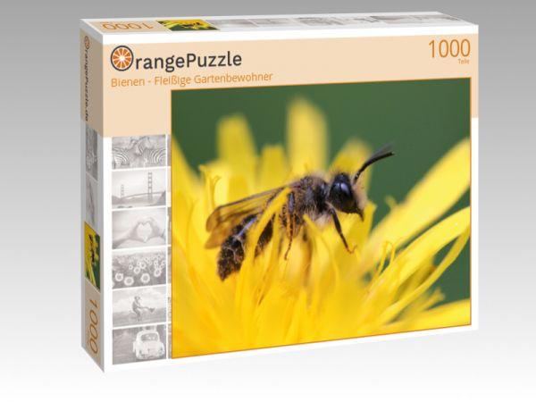 """Puzzle Motiv """"Bienen - Fleißige Gartenbewohner"""" - Puzzle-Schachtel zu 1000 Teile Puzzle"""
