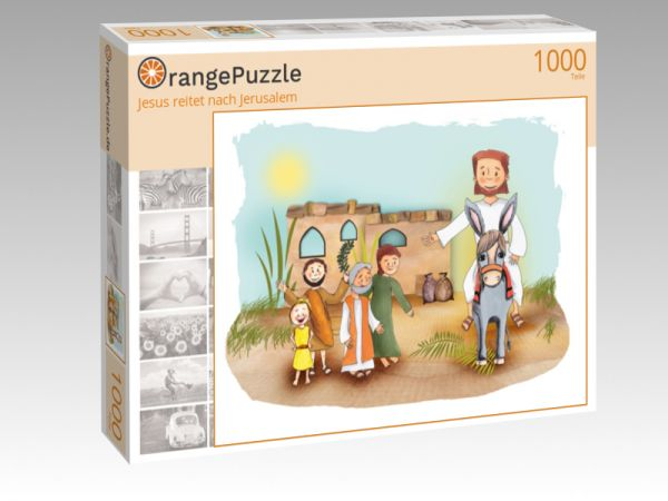 "Puzzle Motiv ""Jesus reitet nach Jerusalem"" - Puzzle-Schachtel zu 1000 Teile Puzzle"
