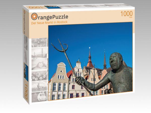 """Puzzle Motiv """"Der Neue Markt in Rostock"""" - Puzzle-Schachtel zu 1000 Teile Puzzle"""